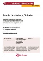 Branle des Sabots / Ländler-Da Camera (separate PDF pieces)-Music Schools and Conservatoires Elementary Level-Scores Elementary