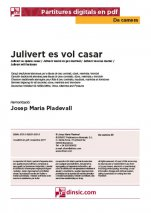 Julivert es vol casar-Da Camera (peces soltes en pdf)-Escoles de Música i Conservatoris Grau Elemental-Partitures Bàsic
