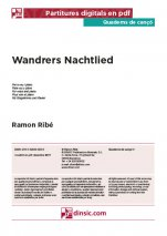 Wandrers Nachtlied-Quaderns de cançó (peces soltes en pdf)-Music Schools and Conservatoires Advanced Level-Scores Advanced