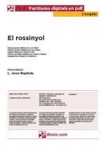 El rossinyol-L'Esquitx (separate PDF pieces)-Music Schools and Conservatoires Elementary Level-Scores Elementary