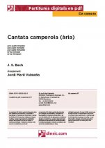 Cantata camperola (ària)-Da Camera (separate PDF pieces)-Music Schools and Conservatoires Elementary Level-Scores Elementary