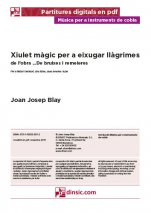 Xiulet màgic per a eixugar llàgrimes-Music for Cobla Instruments (separate PDF pieces)-Scores Advanced-Traditional Music Catalonia