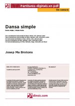 Danza simple-Da Camera (piezas sueltas en pdf)-Partituras Básico