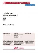 Dia bonic-Música petita (separate PDF pieces)-Music Schools and Conservatoires Intermediate Level-Scores Intermediate