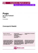 fugue for two tenor shawm-Music for Cobla Instruments (separate PDF pieces)-Scores Advanced-Scores Intermediate