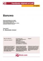 Banuwa-L'Esquitx (separate PDF pieces)-Music Schools and Conservatoires Elementary Level-Scores Elementary
