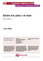 Entre els pins i el mar-Music for Cobla Instruments (digital PDF copy)-Music Schools and Conservatoires Intermediate Level-Scores Intermediate