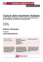 Cançó dels mariners italians-Quadern Schumann (separate PDF pieces)-Music Schools and Conservatoires Elementary Level-Scores Elementary