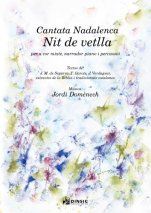 Cantata Nadalenca Nit de vetlla. Piano and Percussion Version (General Score)-Música vocal (paper copy)-Scores Elementary-Scores Intermediate
