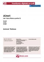 Ainet-Música petita (separate PDF pieces)-Music Schools and Conservatoires Intermediate Level-Scores Intermediate