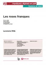 Les roses franques-Quaderns de cançó (peces soltes en pdf)-Music Schools and Conservatoires Advanced Level-Scores Advanced