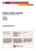 Cançó dels cavalls-Da Camera (separate PDF pieces)-Music Schools and Conservatoires Elementary Level-Scores Elementary