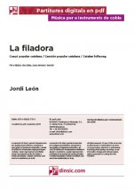 La filadora-Music for Cobla Instruments (separate PDF pieces)-Traditional Music Catalonia