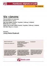 Sis cànons-Da Camera (separate PDF pieces)-Music Schools and Conservatoires Elementary Level-Scores Elementary
