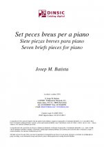 Seven Brief Pieces for Piano-Instrumental Music (digital PDF copy)-Scores Intermediate