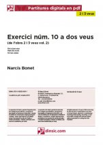 Exercici núm. 10 a dos veus-2-3 veus (separate PDF pieces)-Music Schools and Conservatoires Elementary Level