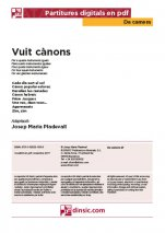 Vuit cànons-Da Camera (separate PDF pieces)-Music Schools and Conservatoires Elementary Level-Scores Elementary