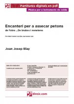 Encanteri per a assecar petons-Music for Cobla Instruments (separate PDF pieces)-Scores Advanced-Traditional Music Catalonia