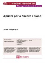 Apunts per a fiscorn i piano-Music for Cobla Instruments (digital PDF copy)-Music Schools and Conservatoires Intermediate Level-Scores Intermediate-Traditional Music Catalonia