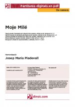 Moje Milé-Da Camera (separate PDF pieces)-Music Schools and Conservatoires Elementary Level-Scores Elementary