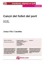 Cançó del follet del port-Cançoner (separate PDF pieces)-Music Schools and Conservatoires Elementary Level-Scores Elementary