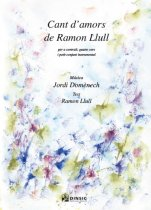 Cant d'amors de Ramon Llull (partitura del cor amb reducció de piano)-Música vocal (paper copy)-Scores Advanced