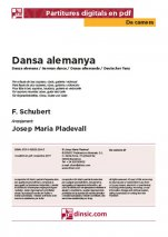 Dansa alemanya-Da Camera (separate PDF pieces)-Music Schools and Conservatoires Elementary Level-Scores Elementary