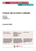 Cançó de la mort callada-Quaderns de cançó (peces soltes en pdf)-Music Schools and Conservatoires Advanced Level-Scores Advanced
