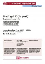 Madrigal X (1a part)-Música coral catalana (piezas sueltas en pdf)-Partituras Intermedio