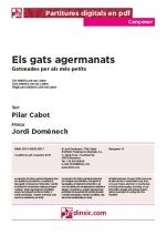 Els gats agermanats-Cançoner (separate PDF pieces)-Music Schools and Conservatoires Elementary Level-Scores Elementary