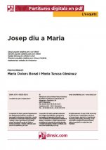 Josep diu a Maria-L'Esquitx (separate PDF pieces)-Music Schools and Conservatoires Elementary Level-Scores Elementary