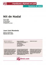 Nit de Nadal-Quaderns de cançó (peces soltes en pdf)-Music Schools and Conservatoires Intermediate Level-Music Schools and Conservatoires Advanced Level-Scores Advanced-Scores Intermediate