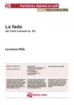 La fada, Carnaval op. 43-Col·lecció Piano Leonora Milà (separate PDF pieces)-Music Schools and Conservatoires Advanced Level-Scores Advanced