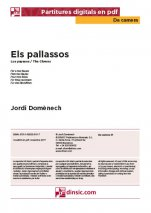 Els pallassos-Da Camera (separate PDF pieces)-Music Schools and Conservatoires Elementary Level-Scores Elementary
