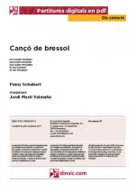Cançó de bressol-Da Camera (separate PDF pieces)-Music Schools and Conservatoires Elementary Level-Scores Elementary