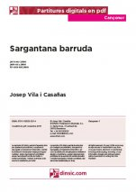 Sargantana barruda-Cançoner (separate PDF pieces)-Music Schools and Conservatoires Elementary Level-Scores Elementary