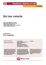 Els tres vaixells-L'Esquitx (separate PDF pieces)-Music Schools and Conservatoires Elementary Level-Scores Elementary