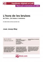 L'hora de les bruixes-Music for Cobla Instruments (separate PDF pieces)-Scores Advanced-Traditional Music Catalonia