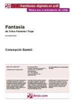Fantasy for four tenor shawm-Music for Cobla Instruments (separate PDF pieces)-Scores Advanced-Scores Intermediate