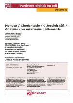 Menuett / Chorfantasie / O Jesulein süß / Anglaise / La mourisque / Allemande-Da Camera (separate PDF pieces)-Music Schools and Conservatoires Elementary Level-Scores Elementary
