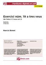 Exercici núm. 19 a tres veus-2-3 veus (separate PDF pieces)-Music Schools and Conservatoires Elementary Level