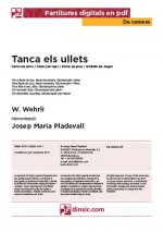Tanca els ullets-Da Camera (separate PDF pieces)-Music Schools and Conservatoires Elementary Level-Scores Elementary