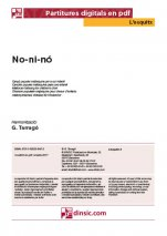 No-ni-nó-L'Esquitx (separate PDF pieces)-Music Schools and Conservatoires Elementary Level-Scores Elementary